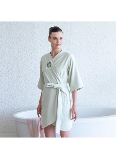 Chakra Alma Kadın Bornoz Yeşil Yeşil